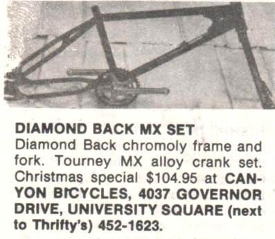 Diamond Back Centurion Round Decal Old school bmx