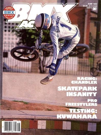 mike dominguez bmx action cover