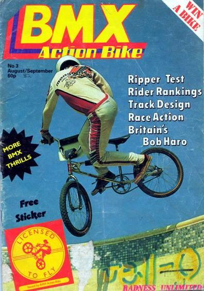 Old School BMX BMX Action Decal for 80/'s Freestyle Race BMX Bike