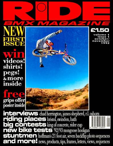 RIDE BMX UK MAGAZINE 1992-1993 @ 23MAG BMX